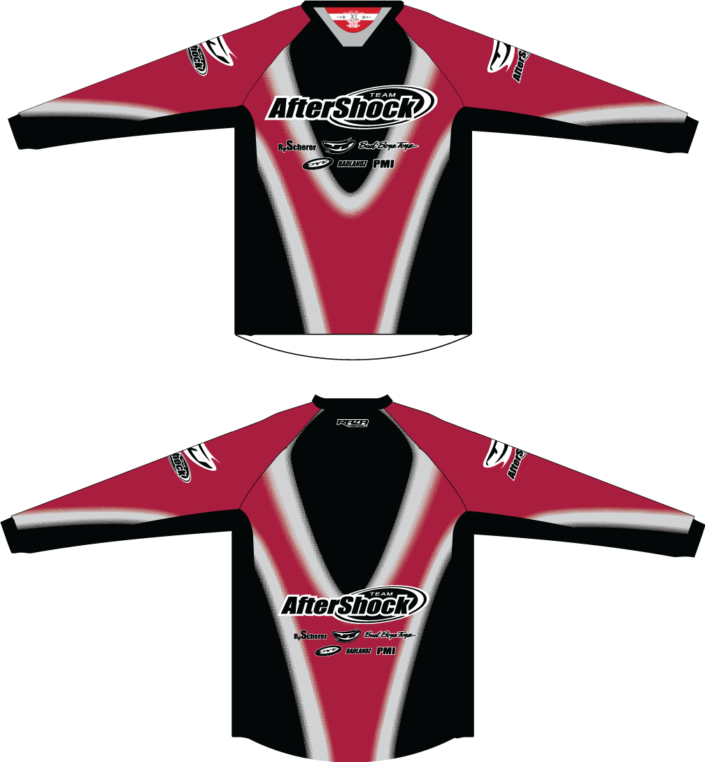 Aftershock Throwback Red TM2 JERSEY - RazaLife - TM2 Jersey - RazaLife - RazaLife - paintball - custom - jerseys - sports - uniforms - woodsball - softball - baseball - basketball - soccer