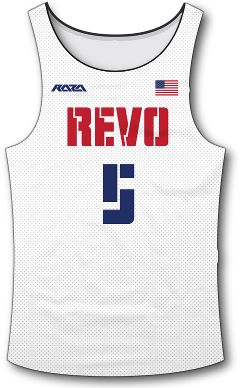 USA Revo White Tank Top