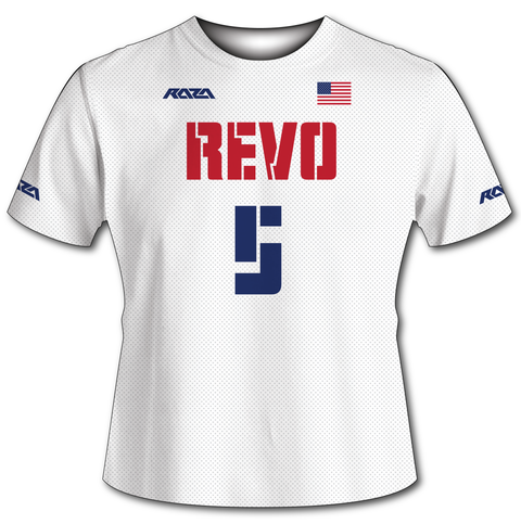 USA Revo White Tech Shirt