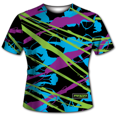 Splash Blue Lime Purple Tech Shirt