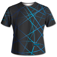 Splash Gray Cyan Swirl Tech Shirt