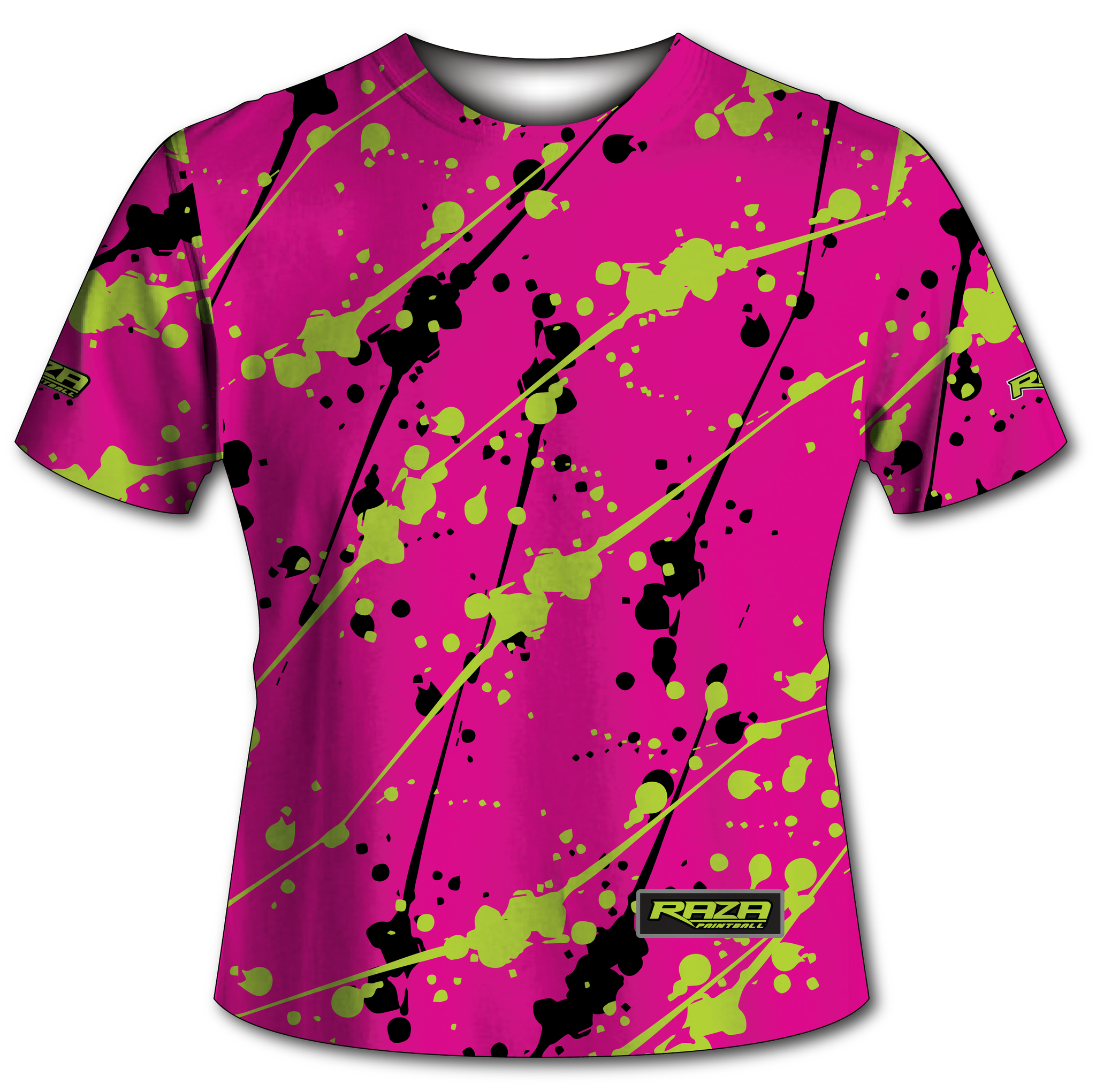 Splash Pink Lime Tech Shirt