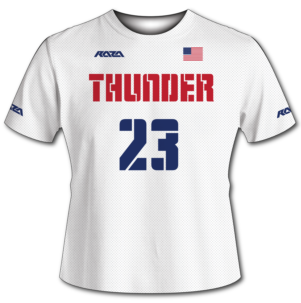USA Thunder White Tech Shirt