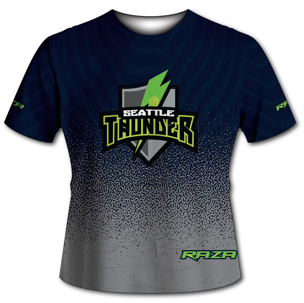 Seattle Thunder Blue Grey Tech Shirt