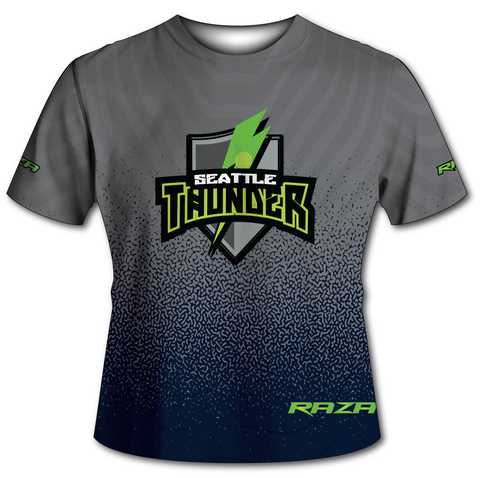 Seattle Thunder Grey Blue Tech Shirt