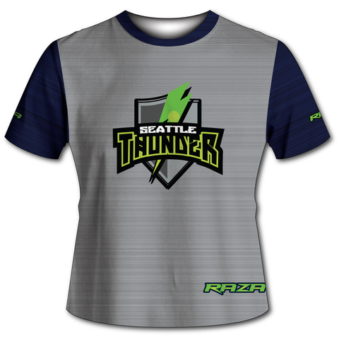 Seattle Thunder Static Grey Navy Tech Shirt