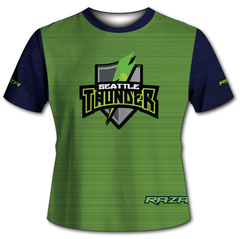 Seattle Thunder Static Green Navy Tech Shirt
