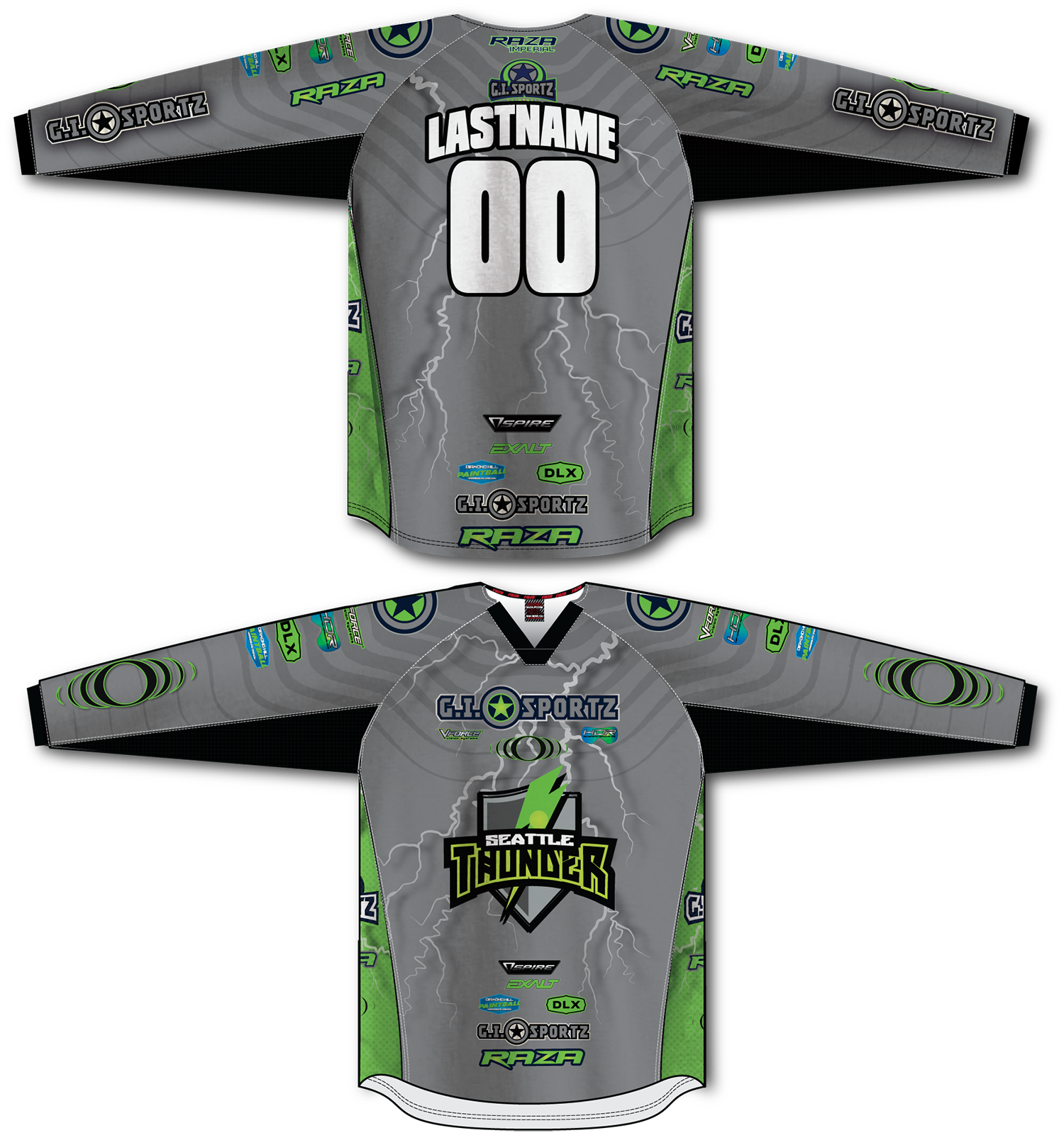 Seattle Thunder Fan Replica Gray/Lime TM2 Jersey