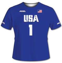 USA Blue Tech Shirt