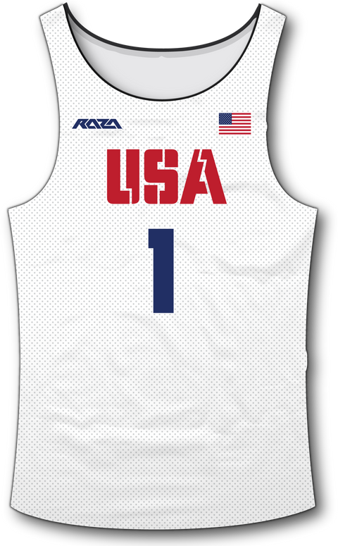 USA White Tank Top