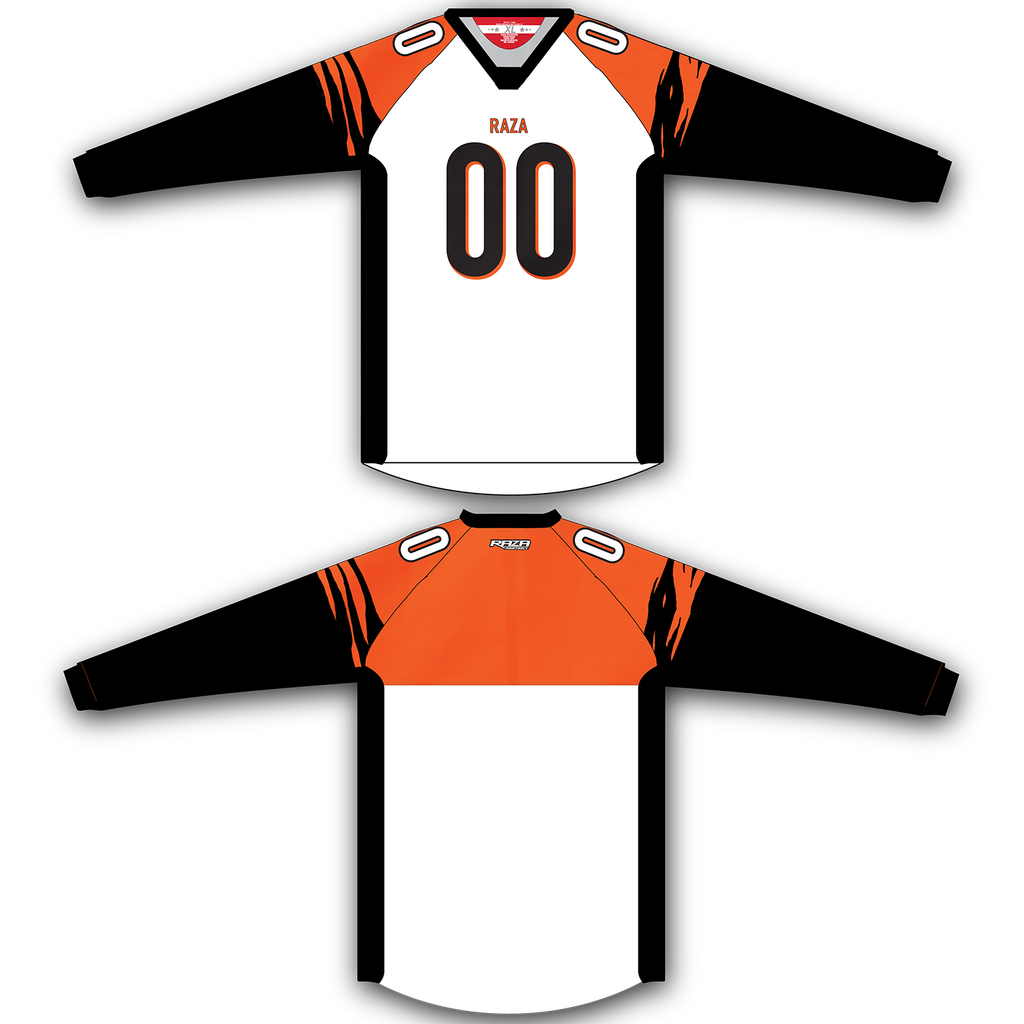 White Orange Black Jersey