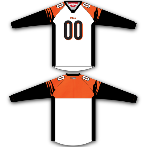 White Orange Black TM2 Jersey