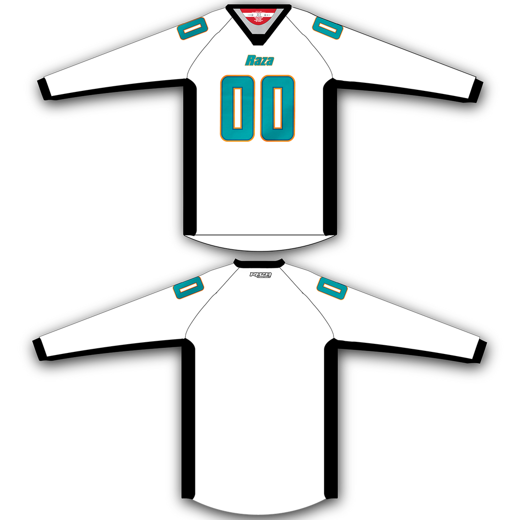 White Orange Teal Jersey