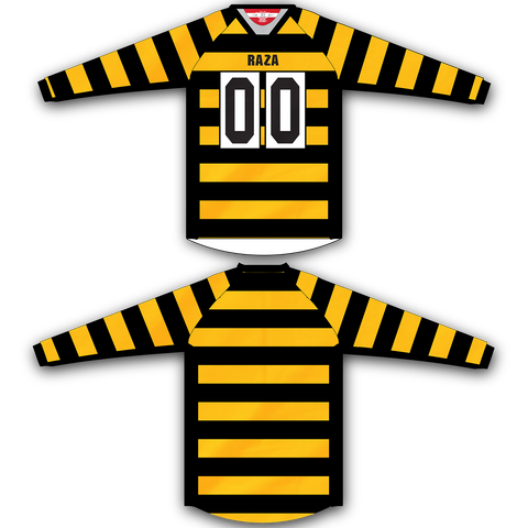 Yellow Black Stripe Jersey