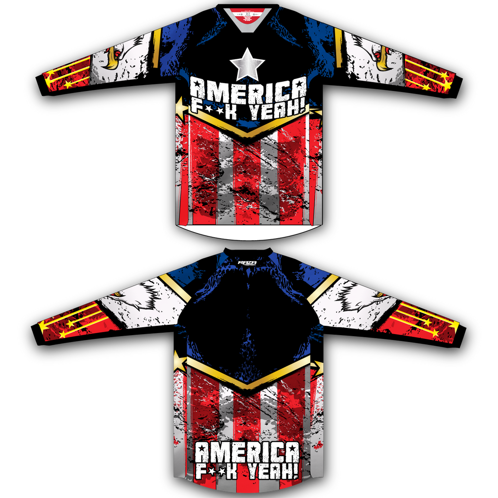 America TM2 Jersey - RazaLife - TM2 Jersey - RazaLife - RazaLife - paintball - custom - jerseys - sports - uniforms - woodsball - softball - baseball - basketball - soccer