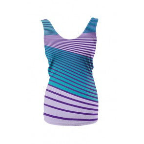 Women's Angle Stripe Tank Top Teal