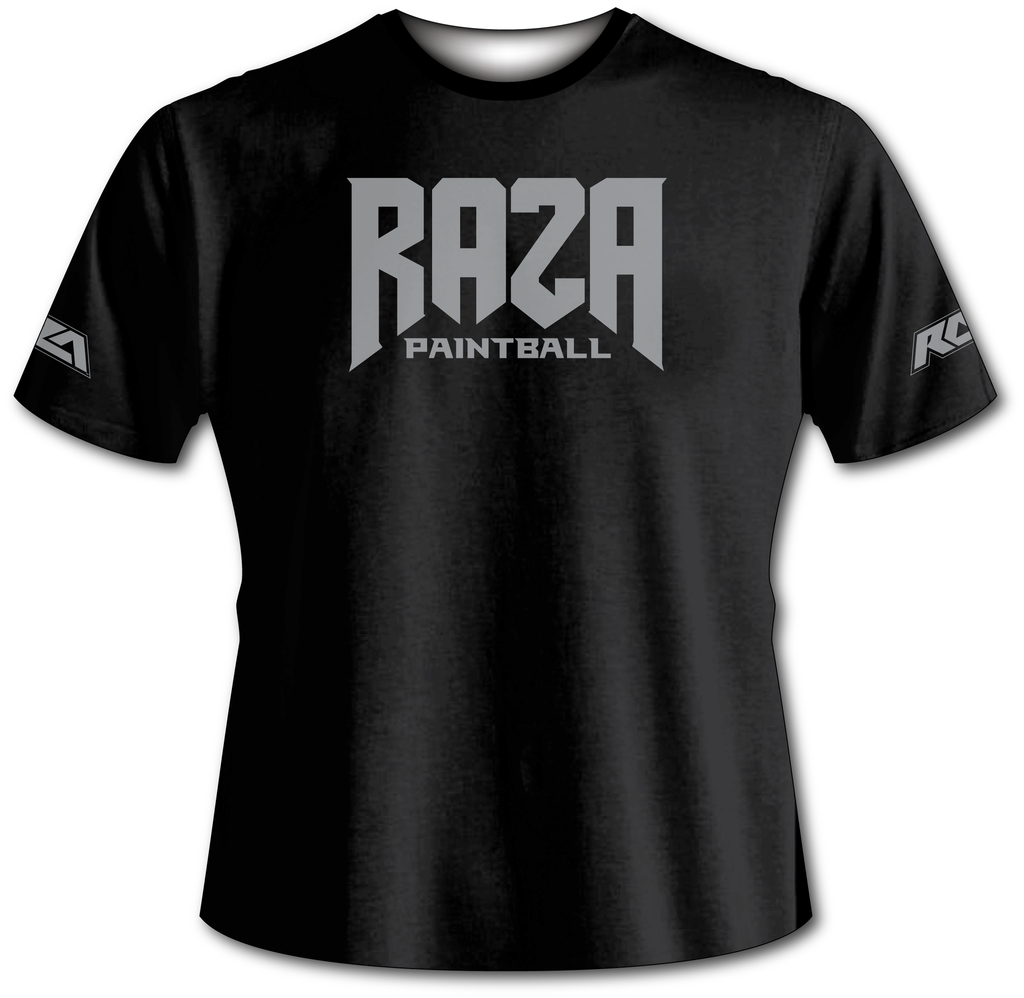 Raza Paintball Black Tech Shirt