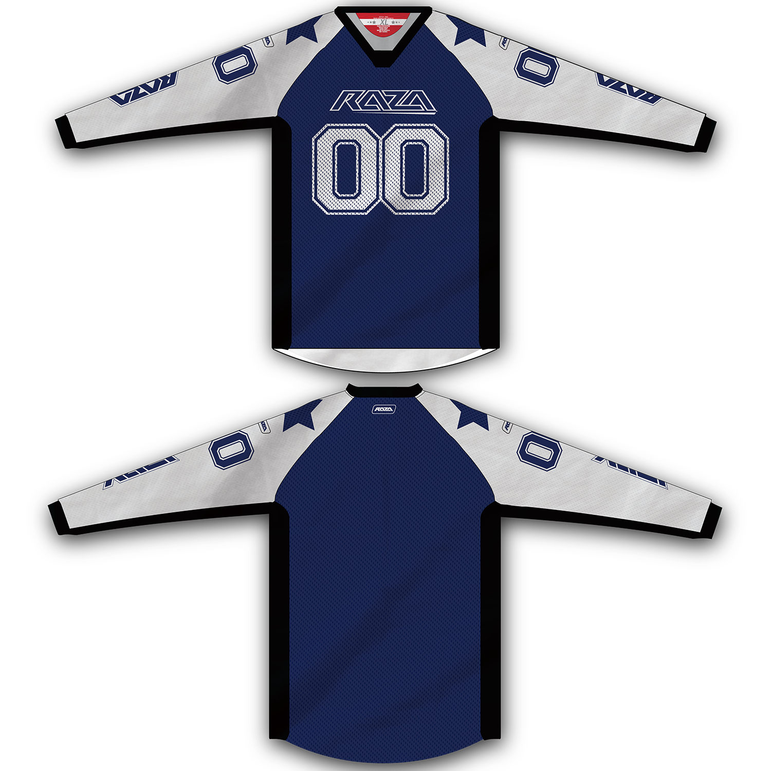Blue White Star TM2 Jersey
