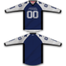 Blue White Star TM2 Jersey - RazaLife - TM2 Jersey - RazaLife - RazaLife - paintball - custom - jerseys - sports - uniforms - woodsball - softball - baseball - basketball - soccer