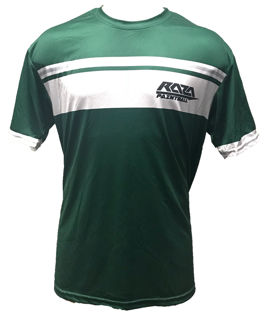 Green Double Stripe Tech Shirt
