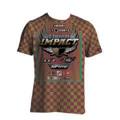 Edmonton Impact Checkered Tech Shirt