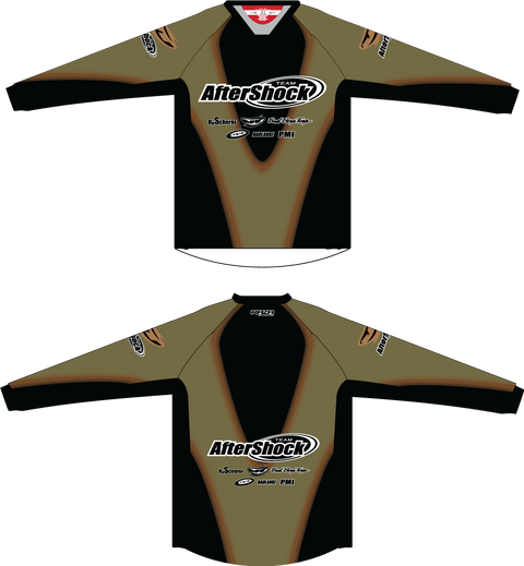 Aftershock Throwback Olive TM2 JERSEY - RazaLife - TM2 Jersey - RazaLife - RazaLife - paintball - custom - jerseys - sports - uniforms - woodsball - softball - baseball - basketball - soccer