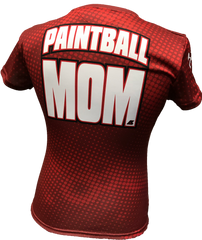 Paintball Mom Maroon Tech Shirt