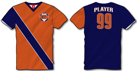 V-Neck Soccer Design #17
