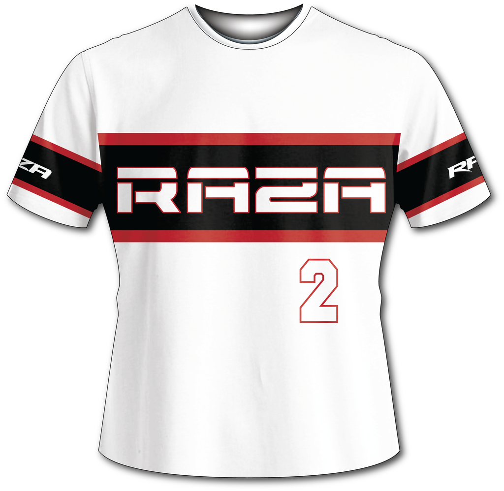 Classic White Tech Shirt - RazaLife - Tech Shirt - Razalife - RazaLife - paintball - custom - jerseys - sports - uniforms - woodsball - softball - baseball - basketball - soccer