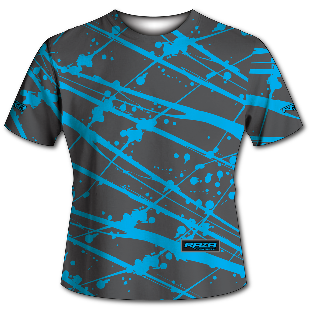 Splash Gray Cyan Tech Shirt
