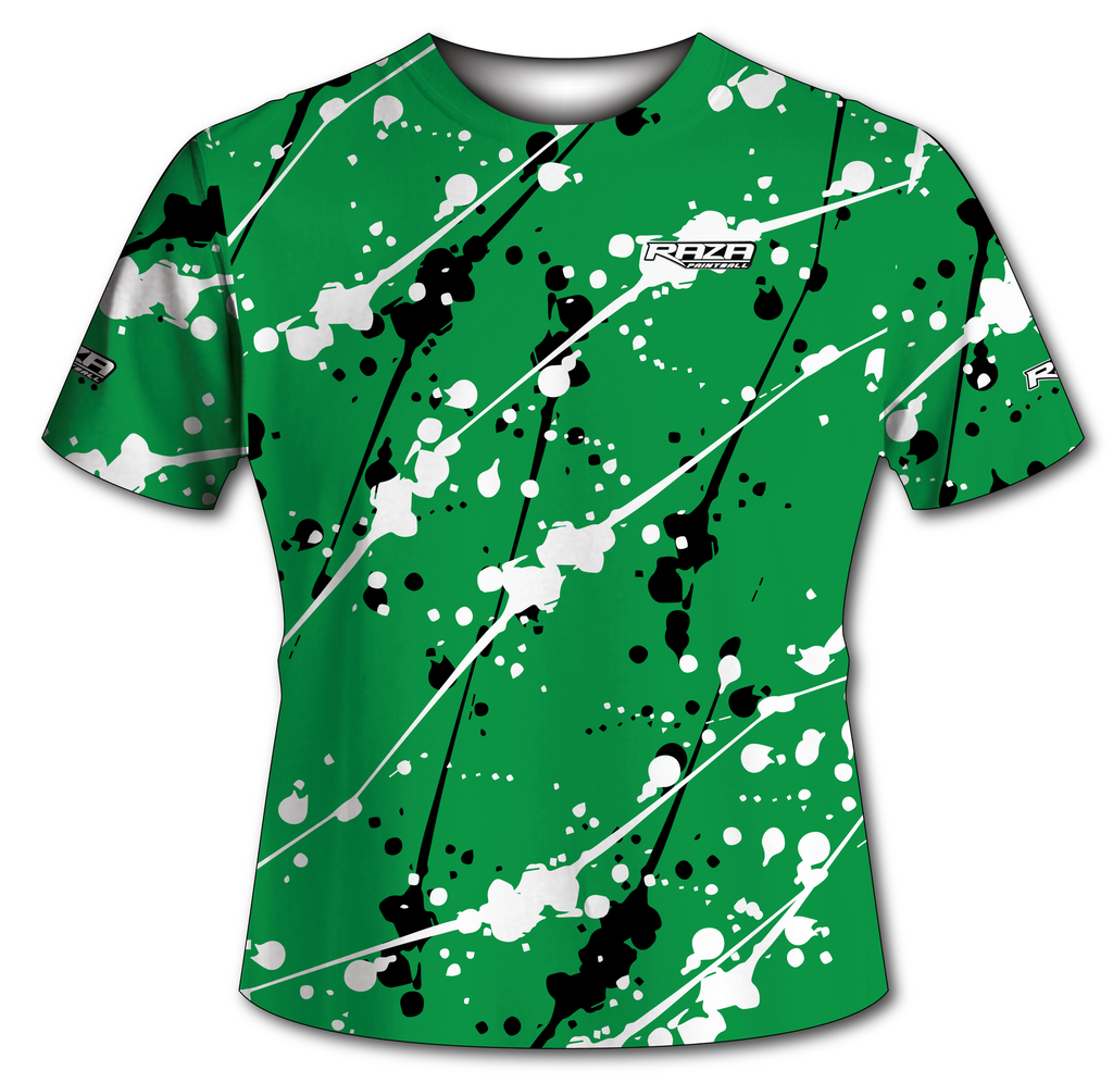 Splash Green White Silver Tech Shirt