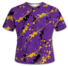 Splash Purple Yellow Silver Tech Shirt - IN STOCK, ON SALE