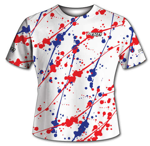 Splash Red White Blue Tech Shirt
