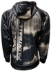 Tan Black Wash Zip Up Tech Hoodie