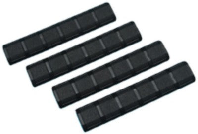 "6 4/1"" Rail Cover Set For Keymod Type B (4pcs/Black) - Phoenix Tactical"
