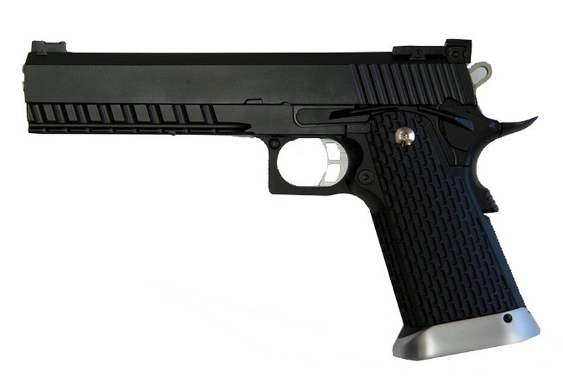KJWorks Hi-Capa Gas Blowback Full Metal Pistol ( KP-06 / Black ) - Phoenix Tactical