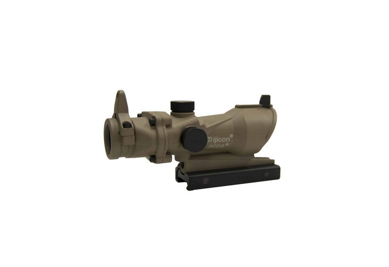 4X32 ACOG Style Scope w/ Sights (Tan)