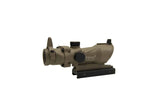 4X32 ACOG Style Scope w/ Sights (Tan) - Phoenix Tactical