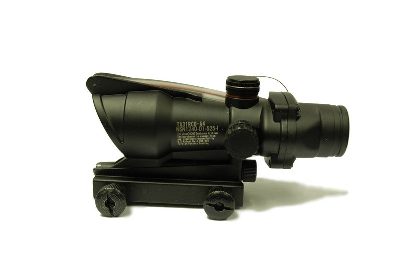 1x32mm ACOG Style RED Dot Scope (Black)