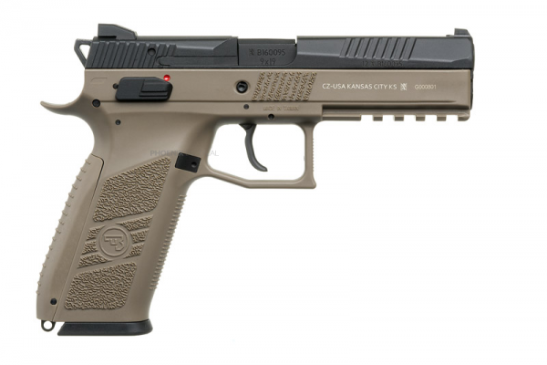 APLUS Custom KJW CZ P-09 Gas Blowback Pistol ( Tan )