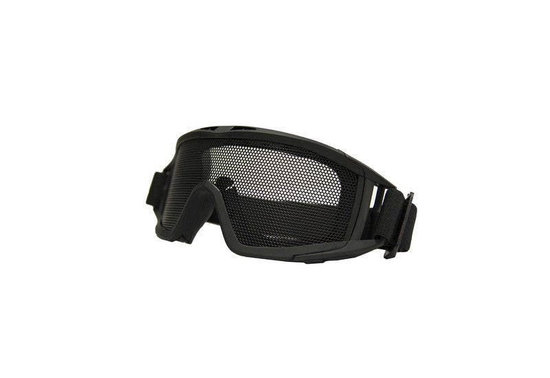 Metal thicker mesh goggle(Black)