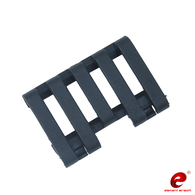 Element 5-Slot Rail Cover with Wire Loom (Color: Black)