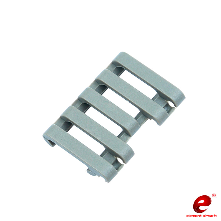 Element 5-Slot Rail Cover with Wire Loom (Color: FG)