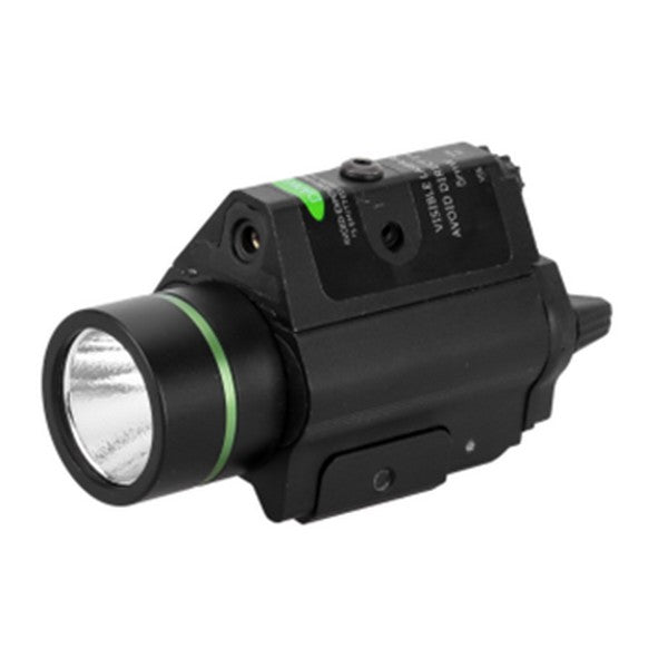 H2 LED FlashLight w/ Green Laser
