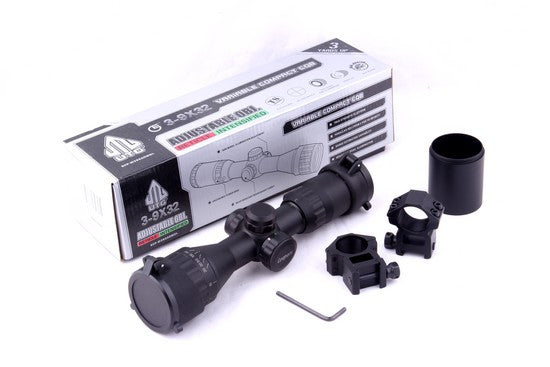UTG/Leapers 3-9x32AO Bug Buster Compact Rifle Scope, Illuminated Mil-Dot Reticle