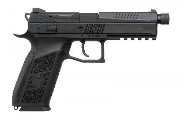 KJWorks CZ P-09 Gas Blowback Pistol ( Black / Thread Barrel with Cap )