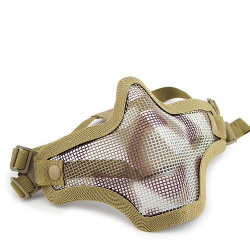 V1 Double Band Metal Mesh Mask (Desert)