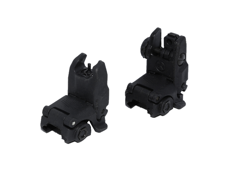 Magpul G3 Style Polymer Front&Rear Flip Sights (BK) - Phoenix Tactical