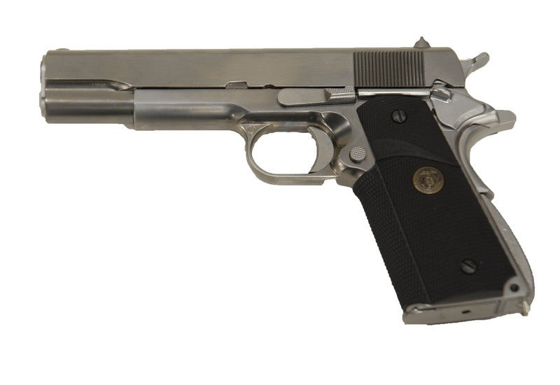 WE M1911A1 ( Silver / Black Rubber Grip )