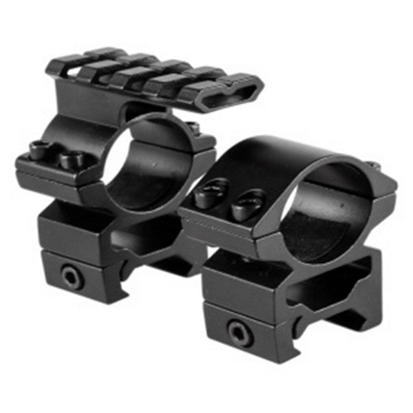 Tactical 25.4mm Scope Mount Set w/ Top Rail  / (Medium)